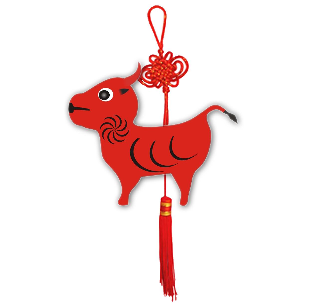 设计有中国传统特点的牛,虎,生肖图案