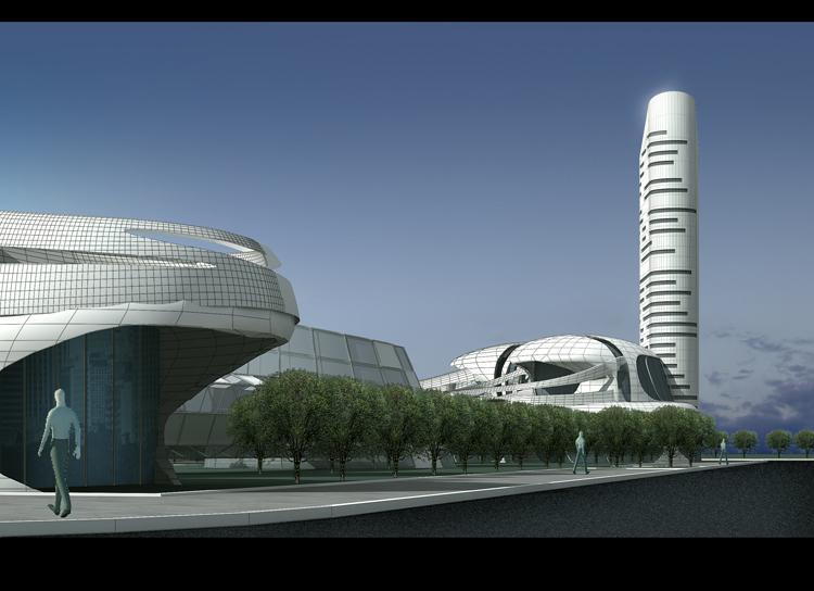 音谷大厦工程概念性规划设计效果图