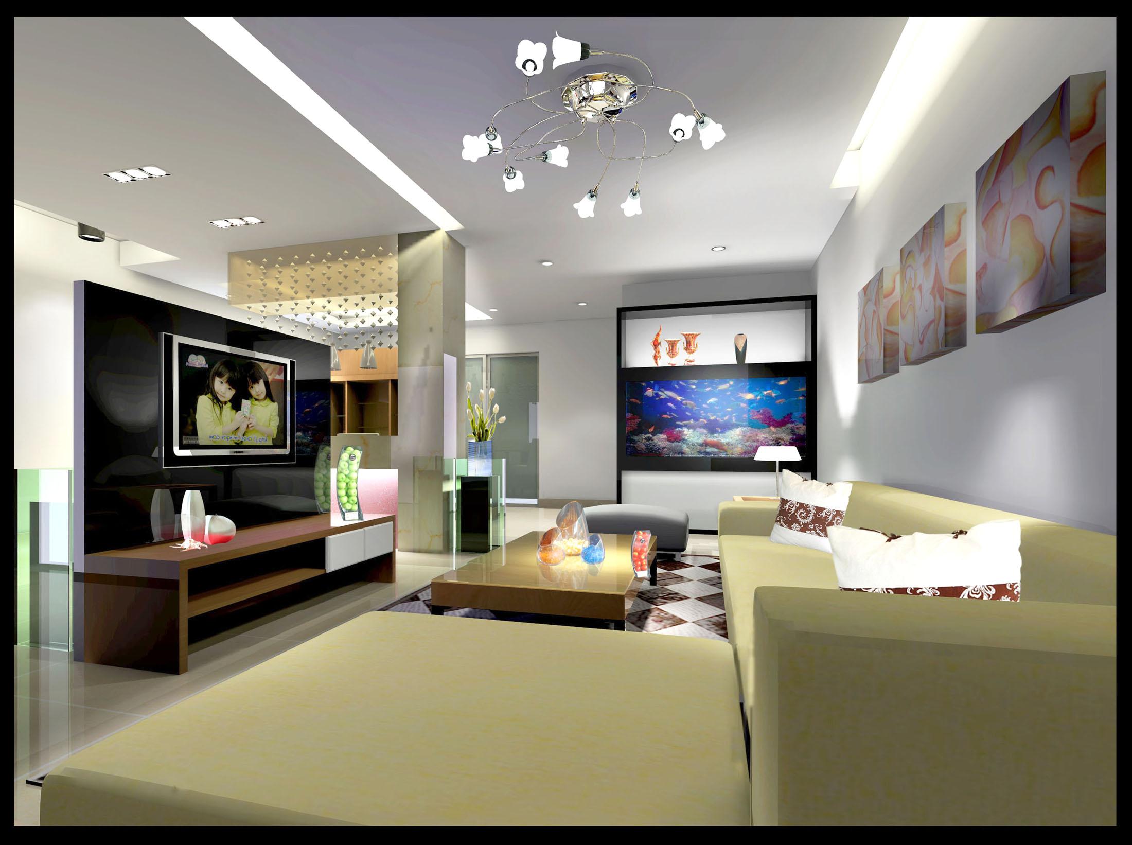 家庭客厅装修设计,简约现代风格