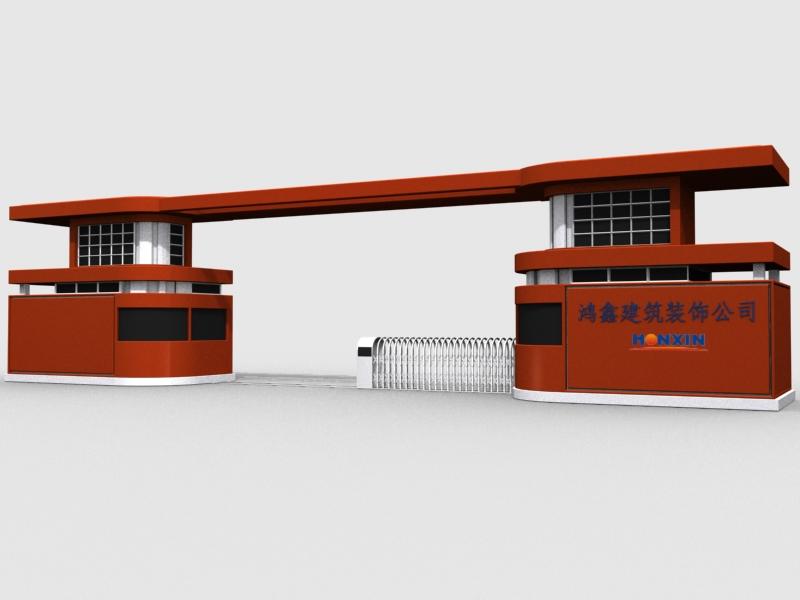 大门效果图 大门设计图征求 工厂大门效果图_1688639_k68威客网