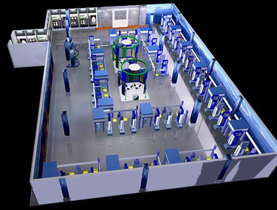 展廳內部鳥瞰圖設計