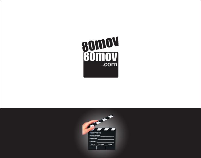 80电影网站logo设计