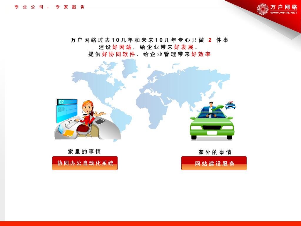 其一是协同办公自动化系统(oa),其二是网站 建设,我们在公司介绍的ppt