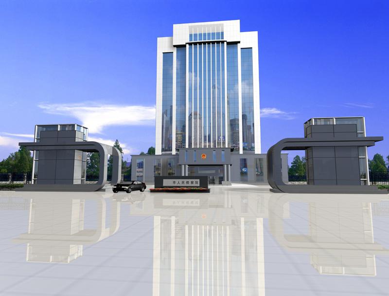 大楼大门效果图设计