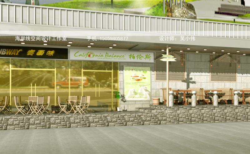 冰淇淋店铺外场设计效果图