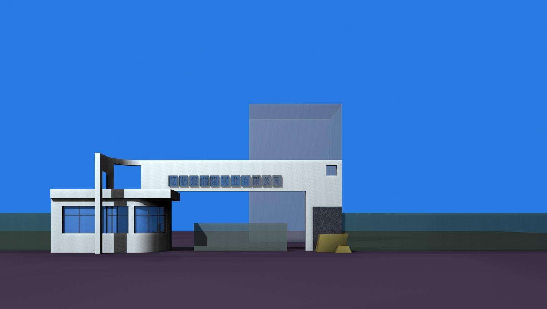 工厂大门设计图