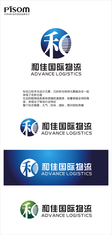 上海和佳国际物流有限公司logo设计 名片