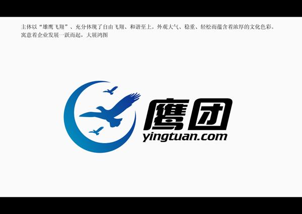中标稿件 -鹰团LOGO 名片 网站首页风格示意. 205元 威客任务 编号