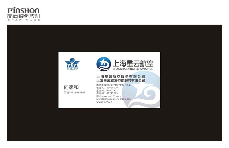 上海星云航空网站logo/名片logo设计图片