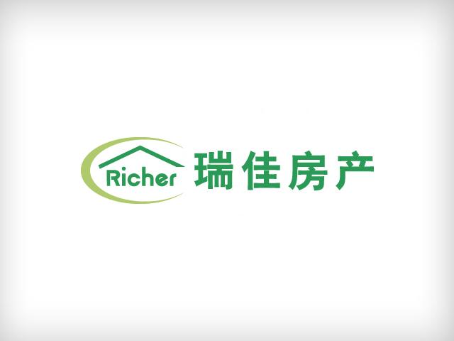 瑞佳房产中介的logo,名片,牌匾