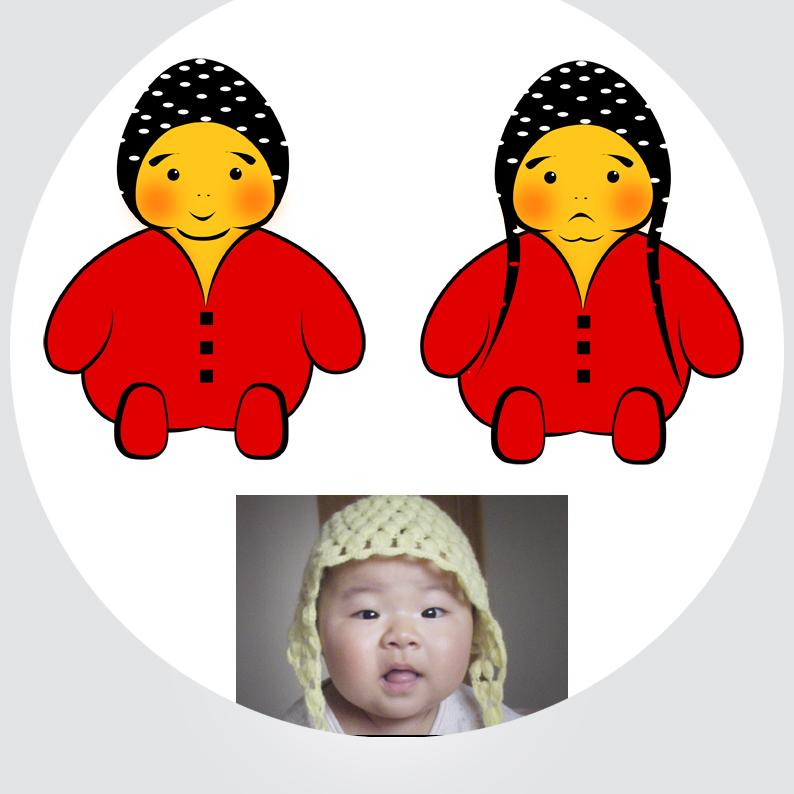 给宝宝设计平面卡通形象